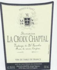 Croix Chaptal, Vin naturellement doux blanc 2005