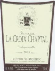 Domaine la Croix Chaptal Cuvée Charles CdL 2008