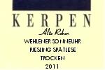 Kerpen Wehlener Sonnenuhr Riesling Spätlese Alte Reben 2011