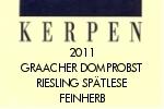 Kerpen Riesling Graacher Domprobst Spätlese feinherb 2011