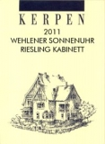 Kerpen Riesling Wehlener Sonnenuhr Kabinett fruchtsüß 2011